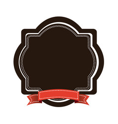 brown emblem with red ribbon icon vector image