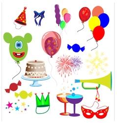 Celebration elements vector image vector image