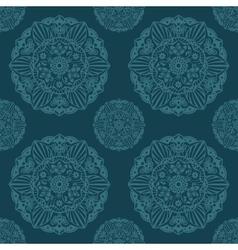 Ornate Mandala seamless texture endless pattern vector image
