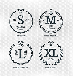 Size Emblems Templates vector image vector image