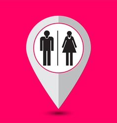 toilet pointer sign vector image vector image