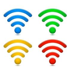 Wireless Network Symbols Set vector image