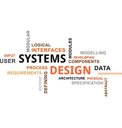 word cloud systems design vector image vector image