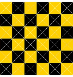 Yellow Black Chess Board Diamond Background vector image