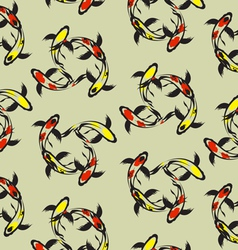 Carp koi wallpaper vector image vector image