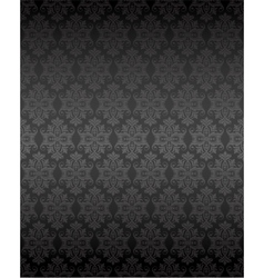 Luxury seamless black floral wallpaper vector image vector image