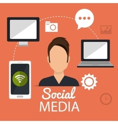Social media and networking design vector image vector image