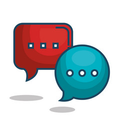 speech bubbles message isolated icon vector image
