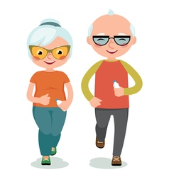 Mature couple engaged sportswear jogging vector image vector image