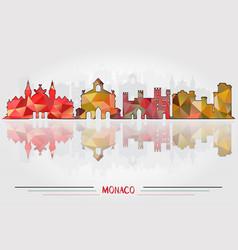 monaco city background vector image vector image