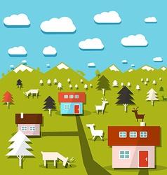 Rural Mountain Landscape vector image vector image