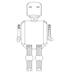 3d model of the robot on a white vector image
