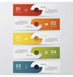5 steps order template for your design vector