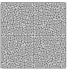 A square labyrinth top view isolated on white vector