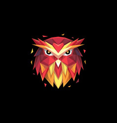 abstract head owl template vector image