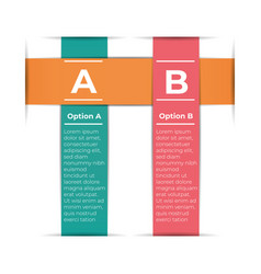 abstract paper infografics template with 2 options vector image