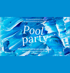 Acrylic paint party template blue abstract vector