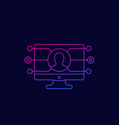Affiliate marketing icon linear vector