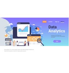 arabic business people graph diagram finance data vector image