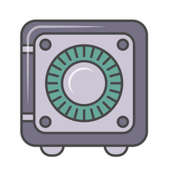 bank safe isolated pictogram vector image