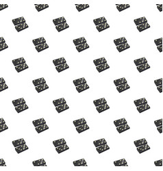 Black dominoes pattern vector