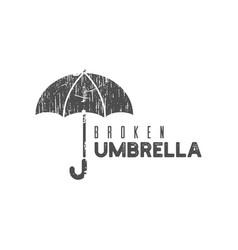 boken umbrella logo icon design template vector image