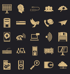 Bond icons set simple style vector
