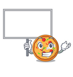 Bring board pizza character cartoon style vector