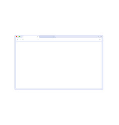 Browser mockup for website laptop and computer vector