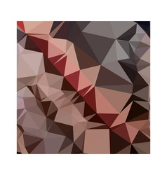 Bulgarian rose brown abstract low polygon vector