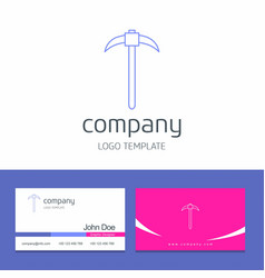 Business card design with hardware company logo vector