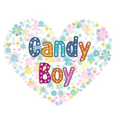 Candy boy greeting card vector