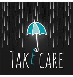 Care support open umbrella rain vector