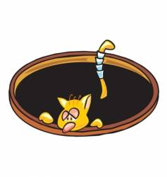 cat hole vector image vector image