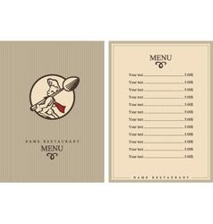 Chef menu design vector