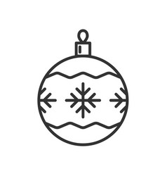 christmas ball icon isolated on white background vector image