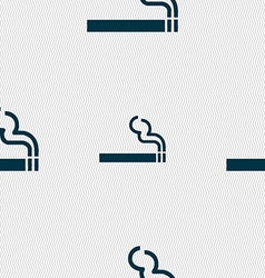 cigarette smoke icon sign Seamless pattern with vector image