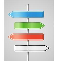 Color navigashion boards vector