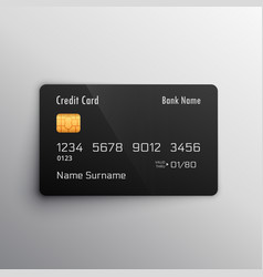 Credit debit card mockup vector
