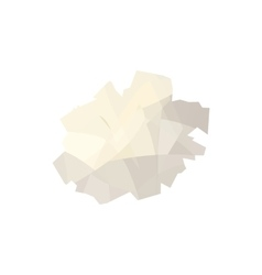 Crumpled paper icon cartoon style vector image
