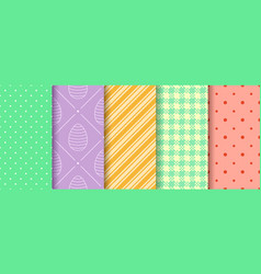 Easter endless texture for web picnic tablecloth vector