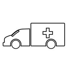 emergency car black color icon vector image