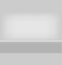 Empty room background vector