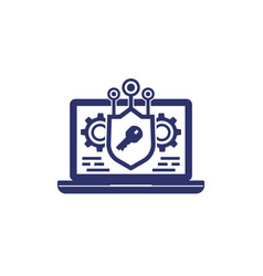 encryption and data protection privacy icon vector image
