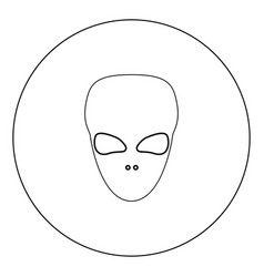 Extraterrestrial alien face or head black icon vector