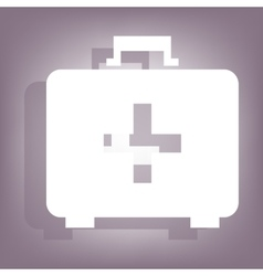 First aid box icon with shadow vector