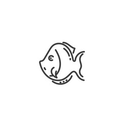 fish flat outline icon egypt concept vector image