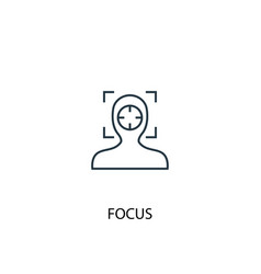 Focus concept line icon simple element vector