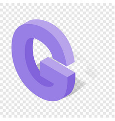 g letter in isometric 3d style with shadow vector image