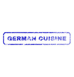 german cuisine rubber stamp vector image